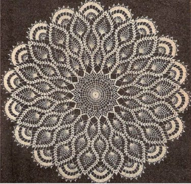 Doilies Crochet Pattern, Pineapple Crochet Doily, Vintage Patterns