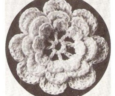 Rose  Irish Thread Rose  Applique Pattern Multi-Sized Flower Crochet Layered Motif Yarn