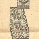 Crochet Table Doily Pattern Pineapple Dresser Scarf Runner Mat