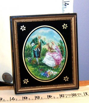 Art painting mini with stickery vintage unknown, MUST SEE!