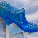 Fenton glass slipper daisy and button & bow