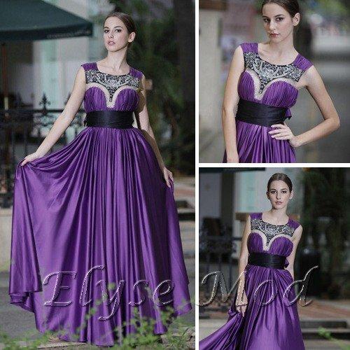 ELYSEMOD Ball Gown Scoop Floor Length Matte silk Quick Delivery/Wedding Dresses/ Evening Dress