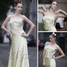 ELYSEMOD  A-line Strapless Floor Length Satin Quick Delivery Evening/ Prom Dresses