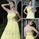 ELYSEMOD Ball Gown Strapless Sweep Train Tencel/Silk Stain Quick Delivery Evening Gown Dress