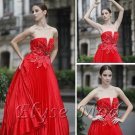 ELYSEMOD Ball Gown Sweetheart Brush Train Ruffles/Beads Quick Delivery Evening/ Prom Dresses