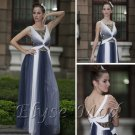 ELYSEMOD A-line Scoop Floor Length Chiffon Rhinestone Quick Delivery Evening/Prom