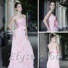 ELYSEMOD A-line Strapless Floor Length Tencel Chiffon Quick Delivery/ Evening/ Formal Dressss