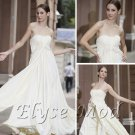 ELYSEMOD A-line Strapless Floor-length Matte Silk Quick Delivery Evening/ Prom Dress