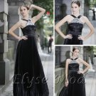 ELYSEMOD Sheath/Colum  Halter Floor Length Bead/Rhinestone Quick Delivery Homecoming