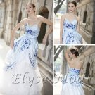 ELYSEMOD Ball Gown Sweetheart Court Train Print Flower Quick Delivery Formal Dress