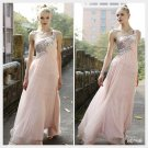 Elysemod Sheath Sweep Train Silk Chiffon Beading One-Shoulder Wedding Dresses 80168