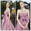 A-line Jewel Ankle-length Sleeveless Organza Satin Quick Delivery/ Prom Dress by Elysemod 80191