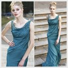 Elysemod Sheath / Column Scoop Ankle-length Sleeveless Pure Silk Satin Evening Dress 80183