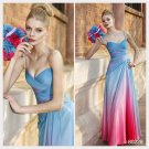 Elysemod A-line Spaghetti Straps Floor-length Sleeveless Tencel Chiffon Evening Dresses 80228
