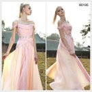 Elysemod A-line Off-the-shoulder Ankle-length Short Chiffon Evening Dress/Dresses 80195