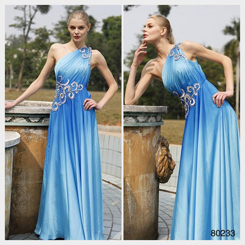 Elysemod A-line One Shoulder Floor-length SleevelessWomen's Dresses/ Evening Dress 80233