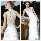Elysemod A-line V-neck Floor-length Sleeveless Satin Women's Dresses Evening Dress 80153