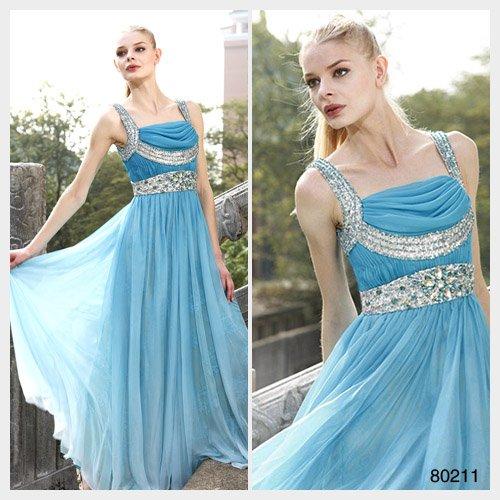 Elysemod A-line Square Sweep / Brush Train Sleeveless Women's Dresses/ Evening Dress 80211