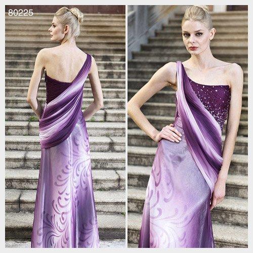 Elysemod Trumpet / Mermaid One Shoulder Floor-length Sleeveless Evening Dresses 80225