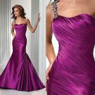 ON SALE !!!!! Freeshipping Custom Made Best Selling Shining One Shoulder Mermaid Evening Dress