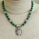 BACCHUS NECKLACE MALACHITE & STERLING by Nina B