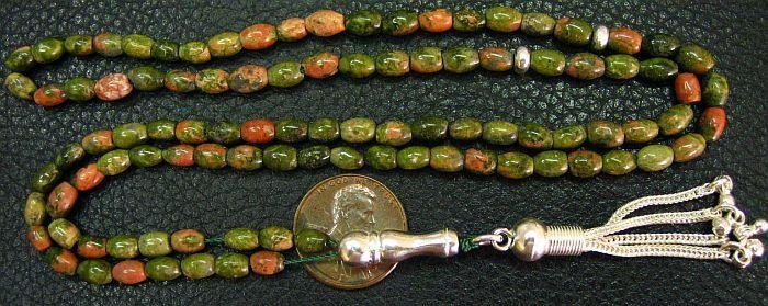Islamic Prayer Beads 99 UNAKITE - by Tesbihci