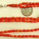 ISLAMIC PRAYER BEADS TESBIH SUBHA 99 ORANGE RICE CORAL