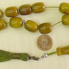KOMBOLOI WORRY BEADS GREEN SANDALOUS  +STERLING