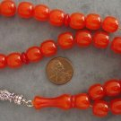 PRAYER BEADS KOMBOLOI SQUARE BARREL RED/ORANGE