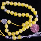GREEK KOMBOLOI STERLING AND YELLOW JADE