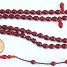 Prayer Beads Subha Tesbih 99 DARK CHERRY TURKISH AMBER