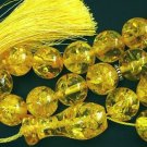 PRAYER WORRY BEADS SUBHA VERY BIG SIZE GOLD AMBER
