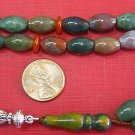 PRAYER BEADS KOMBOLOI OVAL INDIAN AGATE