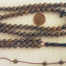 Prayer Beads : CAMEL BONE 99 ROUND FINELY CARVED BEADS