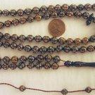 Prayer Beads : CAMEL BONE 99 ROUND FINELY CARVED BEADS