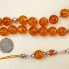 GREEK KOMBOLOI GLOWING HONEY BALTIC AMBER & STERLING