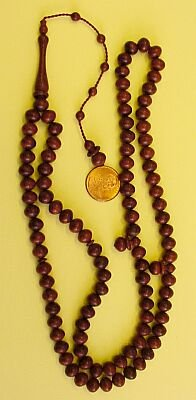 PRAYER BEADS:RED BALM TREE 99 B. -by Tesbihci