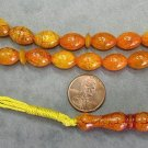 PRAYER WORRY BEADS REAL GOLD AMBER + MOTHER OF PEARL