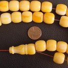 PRAYER WORRY BEADS KOMBOLOI BUTTERSCOTCH AMBER BARREL