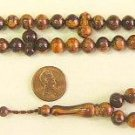 PRAYER BEADS SANDALOUS RESIN OTTOMAN CUT 99 BEADS