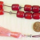 KOMBOLOI WORRY BEADS FATURAN CUT BARREL +STERLING