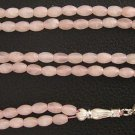 Islamic Prayer Beads 99 ROSE OVAL QUARTZ  & STERLING
