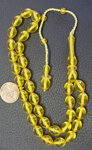 PRAYER WORRY BEADS VINTAGE GOLDEN  AMBER GERMAN