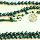 Islamic Prayer Beads DARK GREEN GALALITH 99 Tesbihci