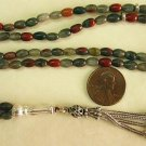 Islamic Prayer Beads 99 BLOODSTONE  & STERLING