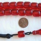 ISLAMIC PRAYER WORRY BEADS TRANSPARENT CHERRY AMBER