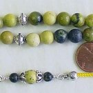 GREEK KOMBOLOI WORRY BEADS YELLOW TURQUOISE &  STERLING