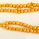 PRAYER BEADS  MARBLED AMBER RESIN OTTOMAN CUT 99 BEADS
