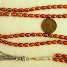 ISLAMIC PRAYER BEADS  CHERRY COPPER PEARLS & STERLING