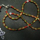 CATHOLIC ROSARY PRAYER BEADS UNAKITE AND STERLING